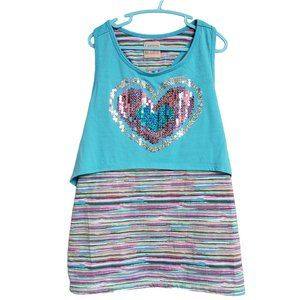 CANYON RIVER BLUES Racer back Sequined Sundress M
